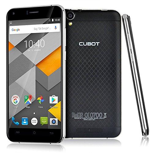 "Cubot Manito - Smartphone libre Android 6.0 (4G LTE, Pantalla 5.0"", Camara 8Mp, 16GB ROM, 3GB RAM, Quad Core 1.3GHz, HotKnot, OTG, Dual SIM), Negro"