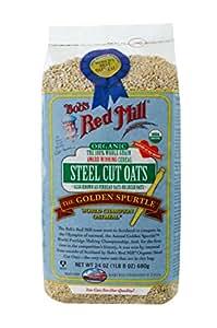 Red Mill organiques grains entiers acier Avoine découpée de Bob, 24 oz (680 g) 3 x 3.7 x 6.5 inches
