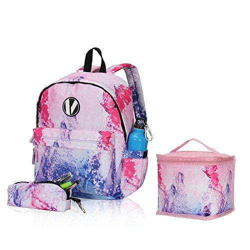 Imagen de veevan  escolar  bolsa de la bolsa 1 lápiz  niño ocio rosa claro 3pc