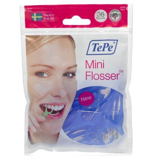5Pack TePe Mini Flosser Zahnseidenhalter 5x 36 Stück