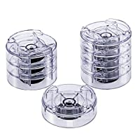Winko Adjustable Bed Risers Table Risers or Furniture Risers (8, Clear)