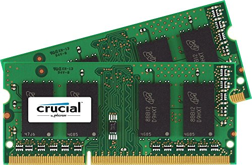 Crucial CT2K51264BF186DJ Kit Memoria da 8 GB (2x4 GB), DDR3, SODIMM, 1866 MT/s, PC3-14900, (S 4 Sodimm Memoria)