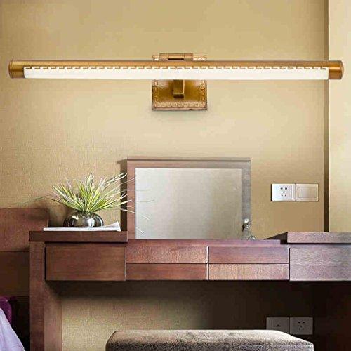 Lily's-uk Liebes-chinesisches Spiegel-vorderes Licht führte Badezimmer-Retro- einfaches Nordeuropäisches Badezimmer-Schrank-Spiegel-Lampe-Wand-Lampe-Abziehvorrichtung-Lampe (54CM, 11W)