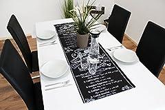 Idea Regalo - Kamaca Capetown - Runner da tavola moderno con elegante motivo intrecciato / 40x 90cm / angoli rivestiti e cucitura 4cm / colore: caffè marrone