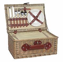 Idea Regalo - Thyme & Season - Cesto da picnic in salice anticato, set per 2 persone