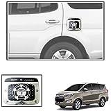 #10: Vheelocityin Metal Finish Chrome Design Square Car Petrol Tank Sticker For Toyota Innova Crysta