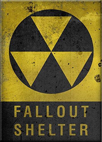 llout Shelter Sign–Selbstklebendes Vinyl Aufkleber Sicherheit (Fallout Shelter Sign)
