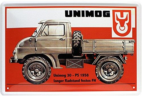 Unimog 1958 - Die Alleskönner Legende Truck Blechschild 20 x 30 Retro Blech 641