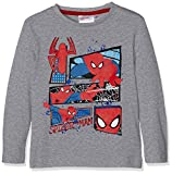 Sun City FR Spiderman, T-Shirt Garçon, (Gris), 7-8 Ans (Taille Fabricant: 8Y)