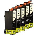 5 Tintenpatronen für Epson T0711 Schwarz mit Chip Epson Stylus SX218 Stylus SX417 SX510 DX 4400 DX6000 DX7400 SX 200 DX4000 SX210 D78 DX4000 DX4050 DX5050 DX6000 DX6050 DX7000F DX5000 DX4400 D92 SX515W D120 DX8400 DX7400 DX7450 DX8450 DX9400FS DX4450 SX205 SX415 SX215 SX110 SX400 S20 Office BX310FN OfficeBX300F SX210 SX400 Wifi Office B40W SX115 SX100 SX600FW Office BX600FW SX105 SX405 SX200 DX8400 SX400 SX100 SX405 S21 DX9200 SX410 DX5000 Stylus Office BX610FW Stylus DX 5500