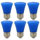 6er E27 Blau Glühlampen Lampe Farbig Birne Beleuchtung Glühbirne Bunt Dekoration Leuchtmittel Für Partybeleuchtung Biergartenbeleuchtung