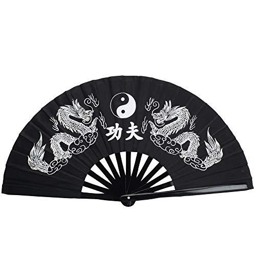 BSGP Abanico Chino Tai Chi Kung Fu de bambú Plegable con diseño...