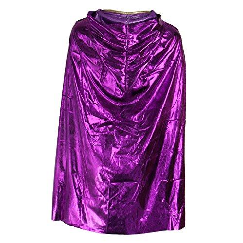 Sharplace Halloween Lange Leuchtende Umhang mit Kapuze Mantel Karneval Fasching Kostüm Gotische Hexe Kostüm Zubehör für Kinder Jungen Mädchen - Lila