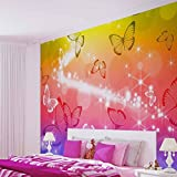Schmetterlinge - Wallsticker Warehouse - Fototapete - Tapete - Fotomural - Mural Wandbild - (402WM) - XXL - 312cm x 219cm - VLIES (EasyInstall) - 3 Pieces