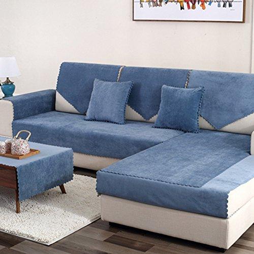 Hm&dx copertura divano impermeabile per animali domestici cane divano componibile antiscivolo resistente all'acqua antimacchia multi-size mobili slipcover sofa cover per soggiorno-venduto per pezzo-blu navy 110x240cm(43x94inch)