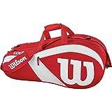 Wilson Match III WRZ827806, Borsa da Tennis per Giocatori di Ogni Livello Unisex – Adulto, Rosso/Bianco, Taglia Unica