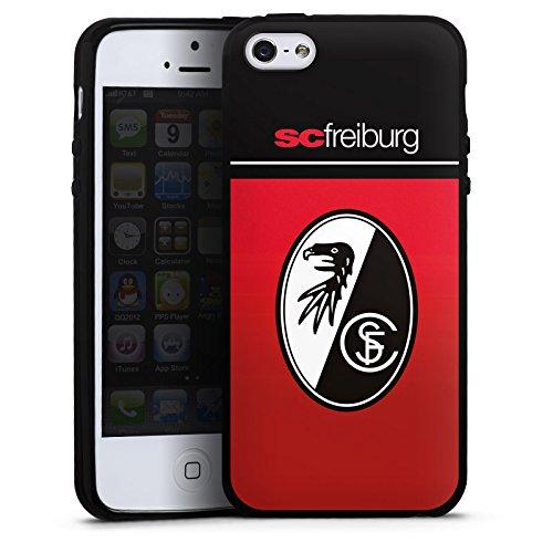 Apple iPhone 5 Silikon Hülle Case Schutzhülle SC Freiburg Fanartikel Scf Fussball