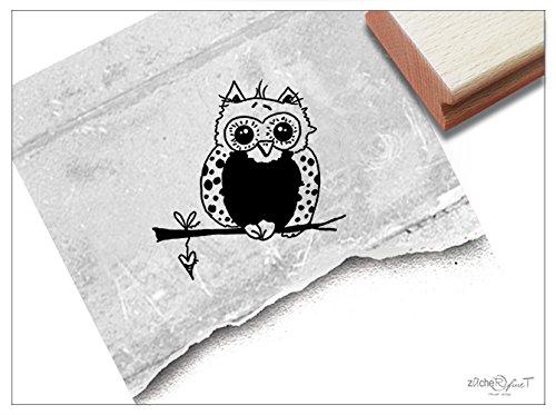 Stempel - Kinderstempel Motiv EULE - Bildstempel Motivstempel Geschenk für Kinder - Kita Schule Einschulung Basteln Deko - von zAcheR-fineT