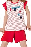 Calida Mädchen Pyjama kurz 43073, fire red, 140