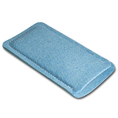 Filz Style Apple iPhone 6 / 6S Premium Filz Handy Tasche Hülle Etui passgenau für Apple iPhone 6 / 6S - Farbe rosa hellblau