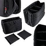 Organisateur de sac à dos / sac à main pour Sony Cyber-shot HX350, Nikon D5600, Panasonic Lumix DC-FZ82 / DC-GH5 / DMC-FZ80/HZ82 appareils photo - Par DURAGADGET