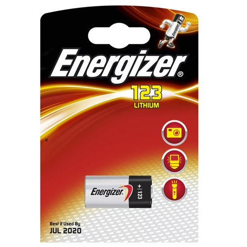 ENERGIZER Pile Lithium Photo CR123 3V BL1