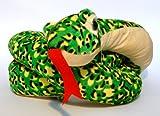 Schlange Plüsch 180cm Grün-Gelb gefleckt Plüschtier NEU