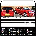 Opel Astra MK5 H Streifen AUFKLEBER-KOFFERRAUM AUTO MOTORHAUBE AUFKLEBER KLEBESEITE DACH-STREIFEN Self Adhesive Vinyl Grafiken seitenstreifen Opel Astra GTC 3 Türen, 5-türig SXI alle Modelle (SCHWARZ)