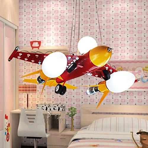 Guo Kinderzimmer Schlafzimmer Lichter Kämpfer Kreative Kronleuchter Junge Aircraft Lichter Eisen E14 Lampe Hafen - 3