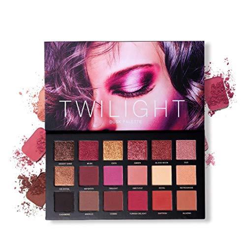 Hannea 18 Color Eyeshadow Palette Velvet Matte Glitter Smoky Eye Makeup Palette 10 Matte + 8 Shimmery Eye Shadow