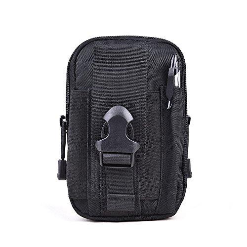 CHT Männerleinentaschen Freizeitsport Bergsteigen Telefon Taschen 17 * 11 * 6cm Farbe Optional Black
