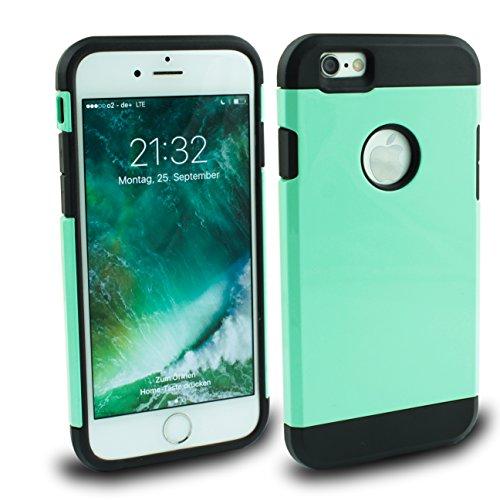 Iphone 6s 6 Outdoor Hülle Pink Case inklusive Panzerglas 9H Cover Schutzhülle Hybrid Bumper Bunt Pink Mint