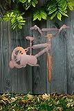 KUHEIGA Gartenstecker Fahrrad, Rost H: 60cm Pflanzstecker Gartenstab Rostdeko