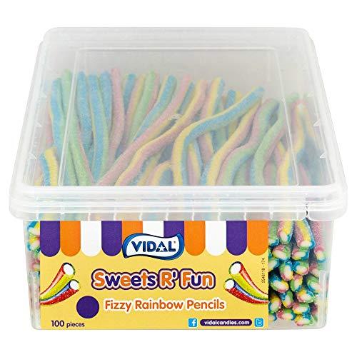 Sprudelnde Regenbogen-Bleistifte 10p 100 Stück Kinder Party Süßigkeiten