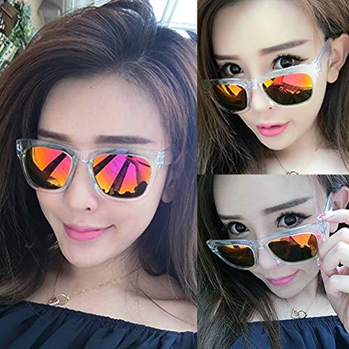 YIWU Brillen & Zubehör Weibliches Gezeiten-Sterngesicht der Männer das runde Gesicht, das Sonnenbrille fährt (Color : 6)