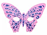 Mardi Gras Party Masquerade Mask,Halloween makeup dance props gold powder butterfly mask children adult butterfly mask pink Prom Masks