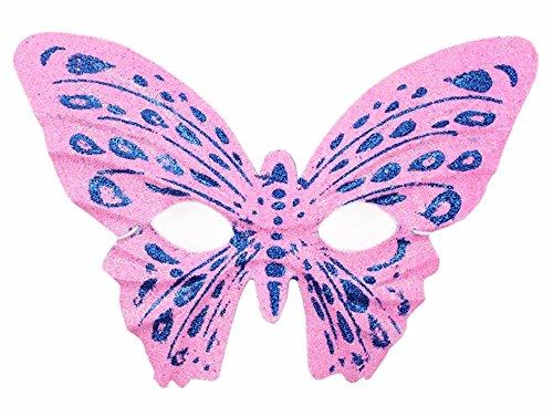 ParttYMask Maskerade,Halloween Make-up Tanz Requisiten Gold-Pulver-Schmetterling-Maske Kinder Erwachsenen Schmetterling Maske Rosa Masquerade