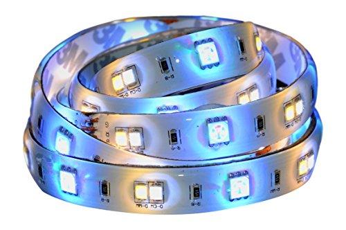 AwoX SSL-C362-C Ruban LED couleur connecté Bluetooth StripLED 2m avec alimentation, Plastique, 24 W, Blanc/Multicolore