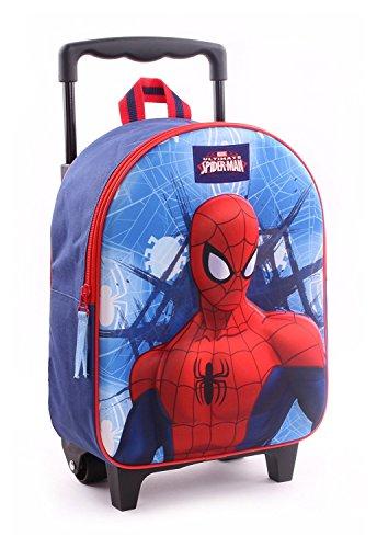 Spiderman zainetto zaino trolley in 3d scuola materna asilo escursioni tempo libero