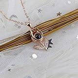 WUFANGFF Reines Silber Halskette Damen Schmuck Simple Mode Geometrische Modellierung, B