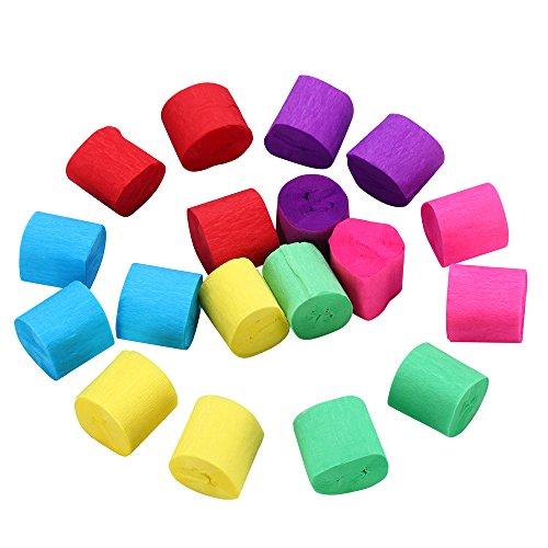 Krepppapier Papier Rolle Partydekoration Verschiedene Farben (18 Rollen)