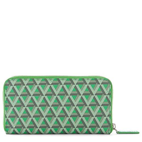 lancaster-paris-womens-11802vertpraine-green-cotton-wallet