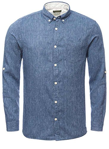 JACK & JONES - Chemise casual - Homme Blau (Total Eclipse)