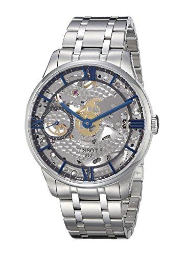 Reloj hombre automático Tissot pantalla analógica correa acero inoxidable gris y esfera t099.405.11.418.00