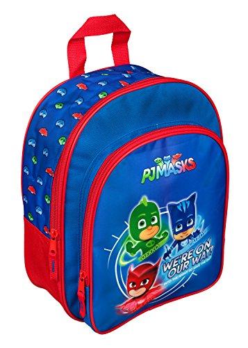 Undercover PJMA7601 - Rucksack, mit Vortasche und gepolsterten Schultergurten, PJ Masks mit Gekko, Catboy und Owlette, ca. 31 x 25 x 10 cm (Mädchen Größe Pj 6)