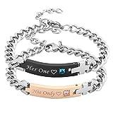Best Jovivi Friend Wish Bracelets - Jovivi Men Women Stainless Steel CZ Her One Review
