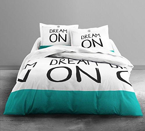 Copripiumino Dream Fun.Today Hc3 Cotone 57 Fili Enjoy Dream Si Color Parure Di Letto 2 Persone Enjoy Disegno Dream Si Color Copripiumino Matrimoniale 220 X 240 Cm 2 Federe