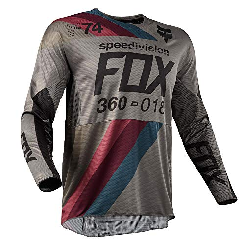 Fox Jersey 360 Draftr, Charcoal, Größe S