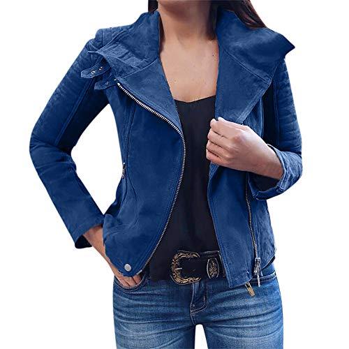 Damen stylischer Herbst Winter Jacke Revers Reißverschluss Bomberjacke Classics Elegant Slim übergangsjacke Winterjacke Mode Kurz...