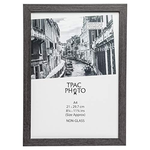The Photo Album Company Inspirieren für Business wesa4gry 21x 30cm Westminster Qualität paperwrapped Holz A4Zertifikat Bilderrahmen mit Plexi Glas. Tisch Oben oder Wand aufhängen-Dunkelgrau